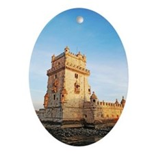 Belem Tower Oval Ornament