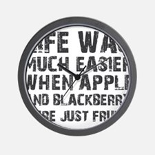 Life was much easier with apple and blackberries W