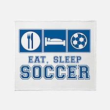 Eat, Sleep, Soccer Throw Blanket