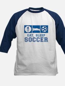 Eat, Sleep, Soccer Baseball Jersey