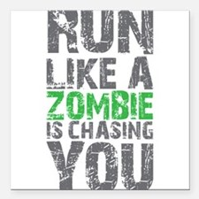 Rul Like A Zombie Is Chasing You Square Car Magnet