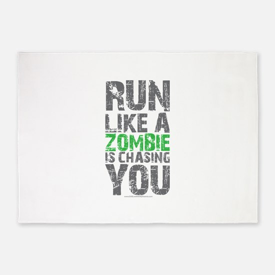 Rul Like A Zombie Is Chasing You 5'x7'Area Rug