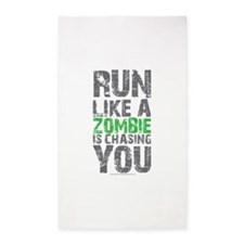 Rul Like A Zombie Is Chasing You 3'x5' Area Rug