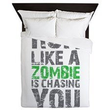 Rul Like A Zombie Is Chasing You Queen Duvet