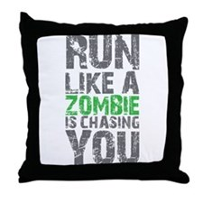 Rul Like A Zombie Is Chasing You Throw Pillow