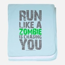 Rul Like A Zombie Is Chasing You baby blanket