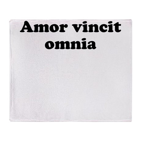 amor vincit omnia throw blanket by latinsayings. Black Bedroom Furniture Sets. Home Design Ideas