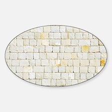 Portuguese sidewalk pavement Sticker (Oval)
