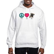 Peace Love & Pugs Hoodie