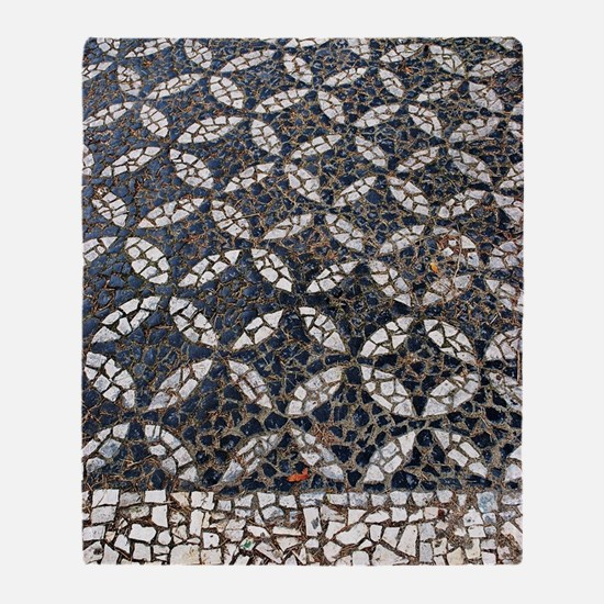 Portuguese sidewalk pavement Throw Blanket