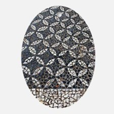 Portuguese sidewalk pavement Oval Ornament