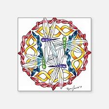 "Ryan James Celtic Dragonfli Square Sticker 3"" x 3"""