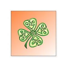 """Four-Leaf Clover Square Sticker 3"""" x 3"""""""