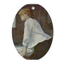 Toulouse-Lautrec The Laundress Ornament (Oval)