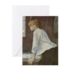 Toulouse-Lautrec The Laundress Greeting Card
