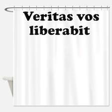 Veritas vos liberabit Shower Curtain