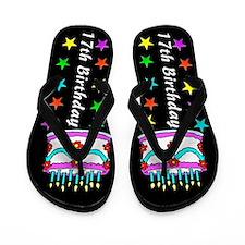 GLITZY 17TH Flip Flops