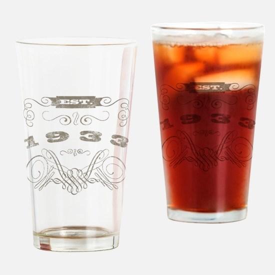 1933 Vintage Birthday (Blackoak) Drinking Glass