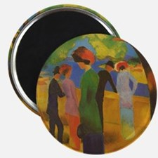 Macke - Woman in Green Jacket Magnet