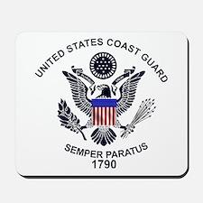 USCG Flag Emblem Mousepad