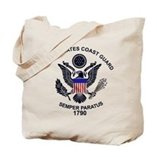 USCG Flag Emblem Tote Bag