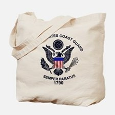 USCG Flag Emblem Tote Bag