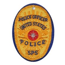 SPS Police Oval Ornament