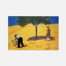 Macke - Tree in Cornfield Rectangle Magnet