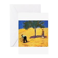 Macke - Tree in Cornfield Greeting Card