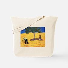Macke - Tree in Cornfield Tote Bag
