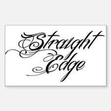 Straight Edge DARK Decal