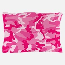 Cute Pink Camouflage with Custom Monogram Pillow C