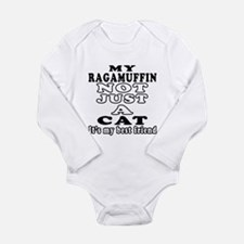 Ragamuffin Cat Designs Long Sleeve Infant Bodysuit