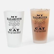 Ragamuffin Cat Designs Drinking Glass