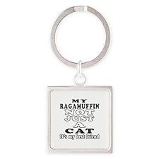 Ragamuffin Cat Designs Square Keychain