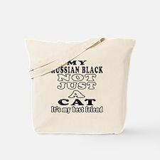 Russian Black Cat Designs Tote Bag
