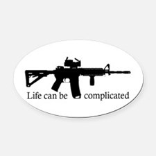 AR-15 Life Can Be Complicated Oval Car Magnet