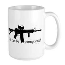 AR-15 Life Can Be Complicated Mug