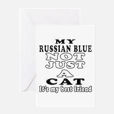 Russian Blue Cat Designs Greeting Card