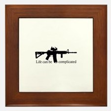 AR-15/M4 Complicated Life Framed Tile