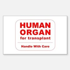 Human Organ for Transplant Sticker (Rectangle)