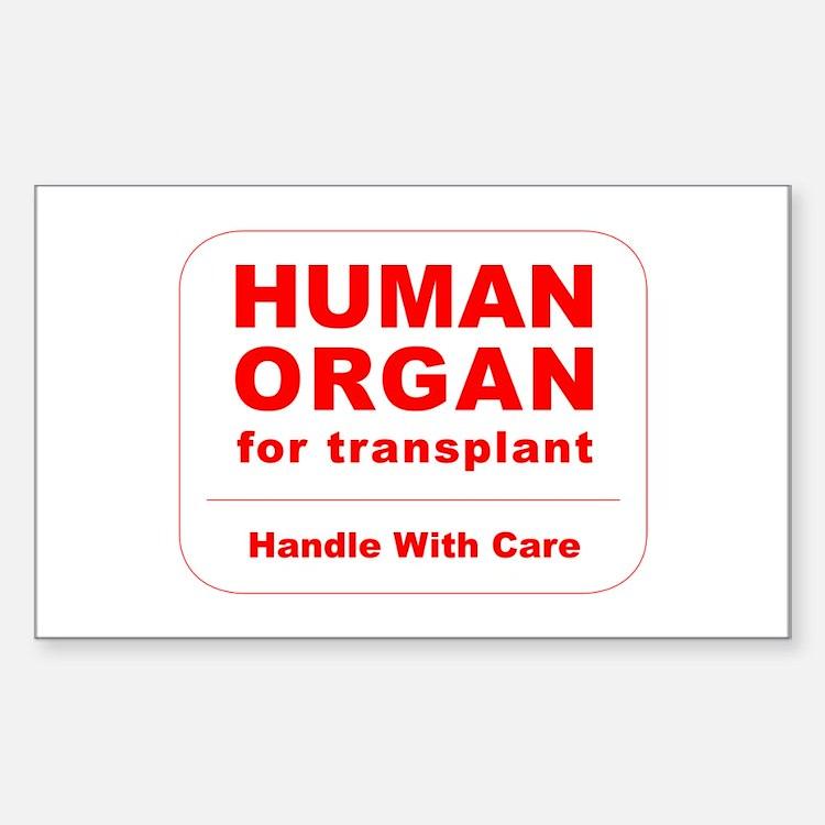 Human Organ for Transplant Sticker (Rectangle)