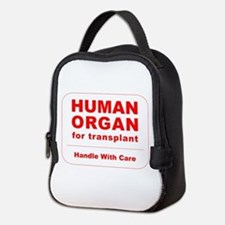 Human Organ for Transplant Neoprene Lunch Bag