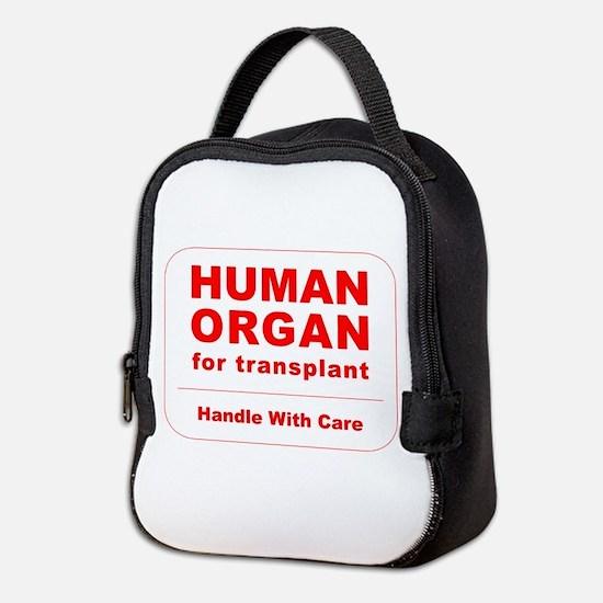 Human Organ for Transplant Neoprene Lunch Bag
