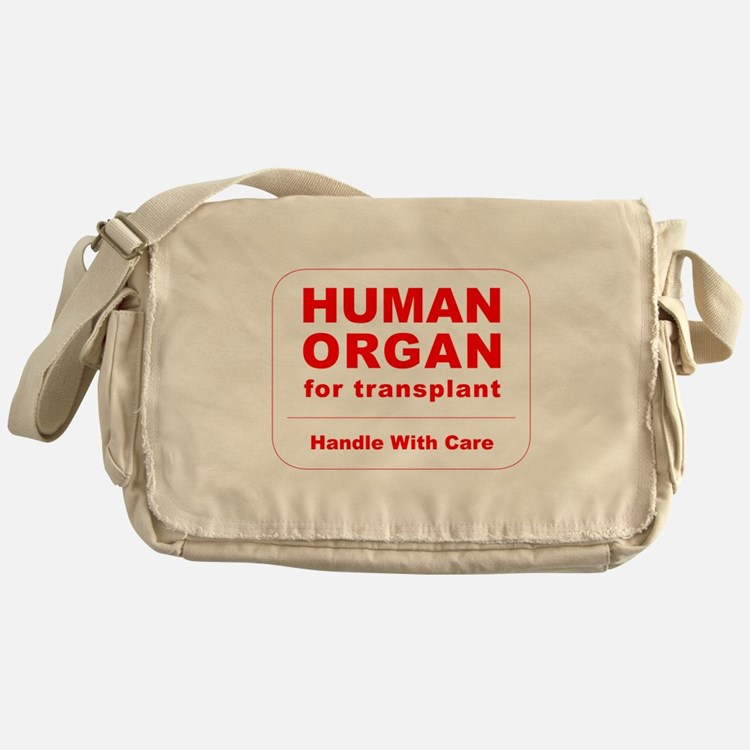 Human Organ for Transplant Messenger Bag