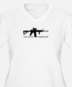 AR-15 - Life Can Be Complicated Plus Size T-Shirt