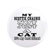 "Scottie chausie Cat Designs 3.5"" Button (100 pack)"