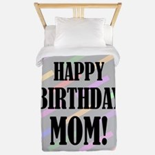 Happy Birthday For Mom Twin Duvet
