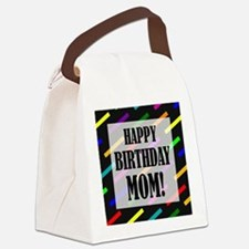 Happy Birthday For Mom Canvas Lunch Bag