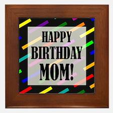 Happy Birthday For Mom Framed Tile
